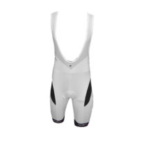 Compression Cycling Bib Shorts – White Black