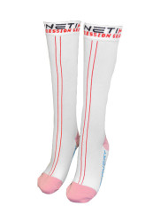 Compression Recovery Socks – White Pink