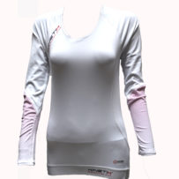 Compression Long Sleeves Top Multisport – White Pink