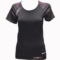 Compression Short Sleeves Top Multisport – Black Pink