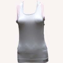 Compression Sleeveless Top Multisport – White Pink