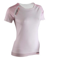Compression Short Sleeves Top Multisport – White Pink